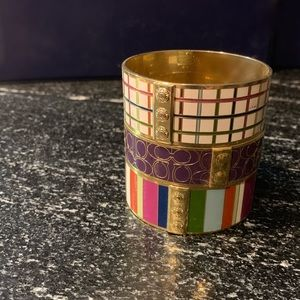 1of3 Coach Enameled lmtd edition bangle bracelet